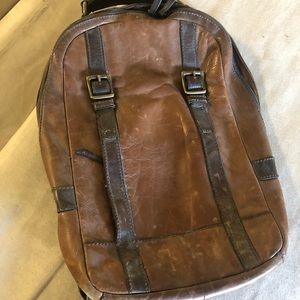 Fossil Leather Laptop Backpack